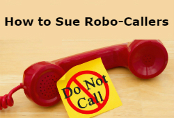How to sue telemarketers graphic